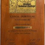 Attestato Partecipazione European Technician Challenge (Lisbona 2005)